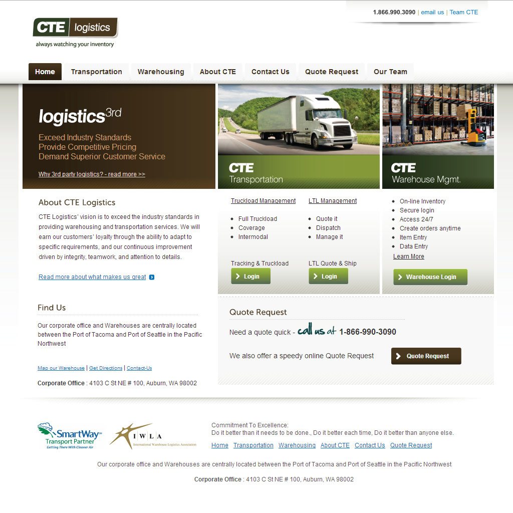 CTE Logistics WordPress site