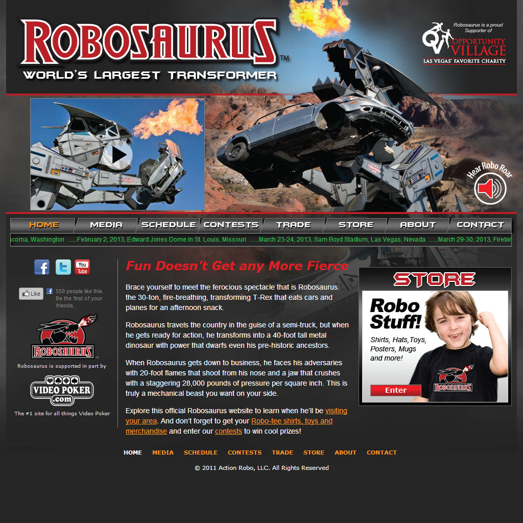 Robosaurus WordPress Site