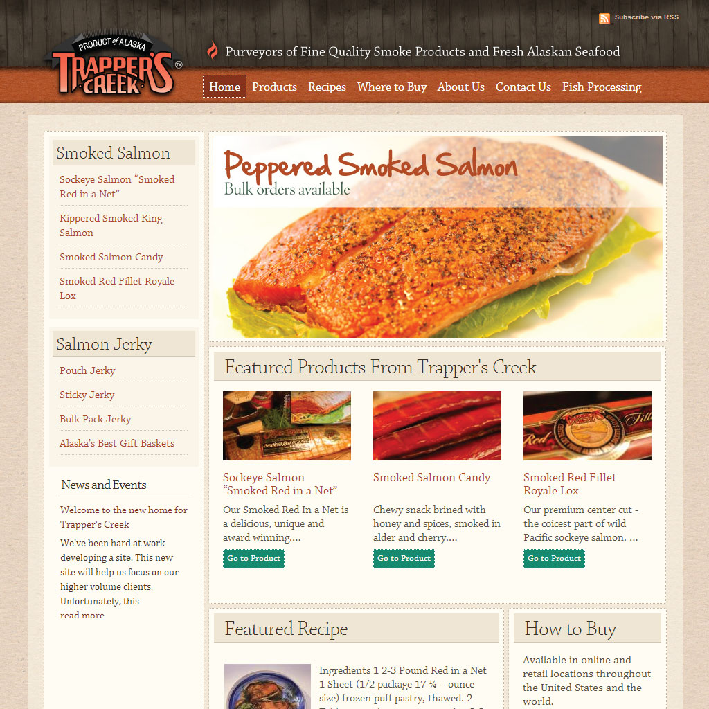 Trappers Creek WordPress site